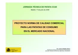 proyecto norma de calidad comercial para las patatas de consumo
