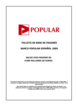 Folleto Base de Pagarés BPE 2009