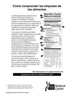Cómo comprender las etiquetas de los alimentos
