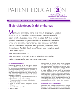 Patient Education Pamphlet, SP131, El ejercicio después del