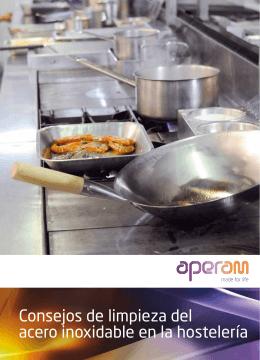 Consejos de limpieza del acero inoxidable en la hostelería