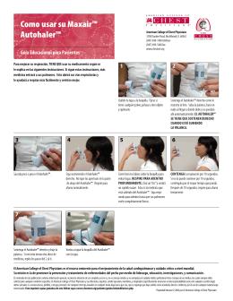 Como usar su Maxair™ Autohaler™