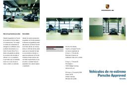 Vehículos de re-estreno Porsche Approved