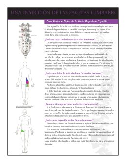 Lumbar Facet Injection - CLINICA DEL DOLOR EN DF