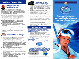 Think Blue Brochure in Spanish - San Diego Health Reports and