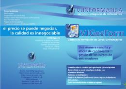 Folleto VJGesForm 2013