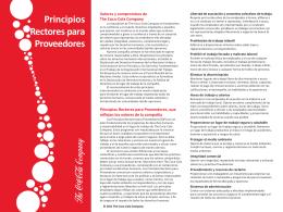 Principios Rectores para Proveedores - The Coca