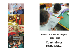 Folleto Fundación Braille