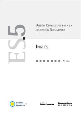 INGLÉS - Dirección General de Cultura y Educación