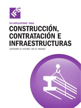 Folleto Construcción, contratación e infraestructuras