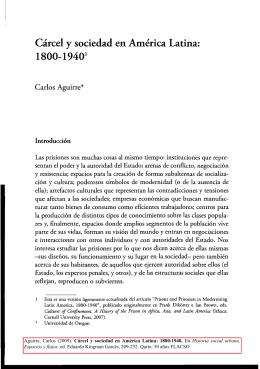 Cárcel y sociedad en América Latina: