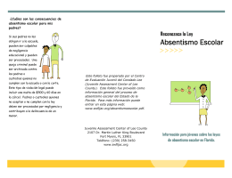 Absentismo escolar - Juvenile Assessment Center