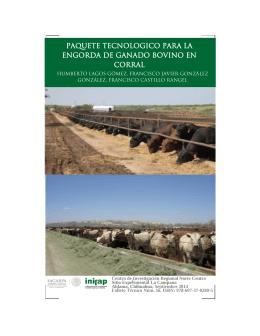 paquete tecnologico para la engorda de ganado bovino en