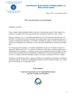 APÉNDICE II - Central Mexicana de Servicios Generales de