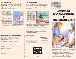 CORTADURAS Y QUEMADURAS CORTADURAS Y QUEMADURAS