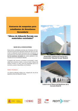 Bases y mas in formación - Instituto de Ciencias de la Construcción