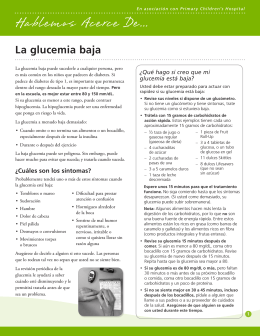 La glucemia baja - Intermountain Healthcare