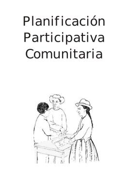 Planificación Participativa Comunitaria