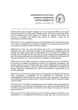 ACTA DE LA SESIÓN N.° 016 - Consejo Universitario