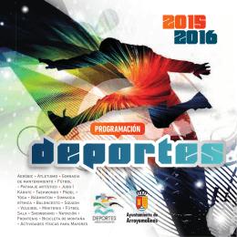 folleto DEPORTES ARROYOMOLINOS 2015