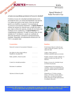 Folleto Speed Monitor F - Tecnología y Diagnósticos del Norte