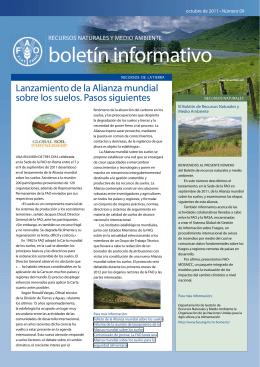 Boletín de recursos naturales y medio ambiente
