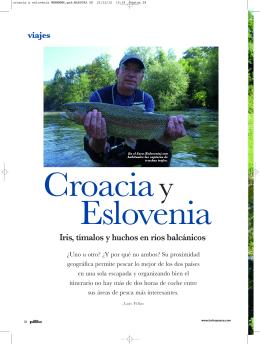 Iris, tímalos y huchos en ríos balcánicos