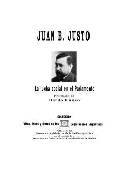 JUAN B. JUSTO - Escuela de Formación Política PS