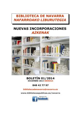 biblioteca de navarra nafarroako liburutegia nuevas