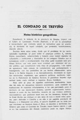 EL CONDADO DE TREVIÑO Notas histórico