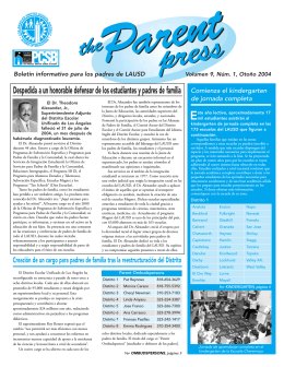 Parent Press spanish 10/28 - Los Angeles Unified School District