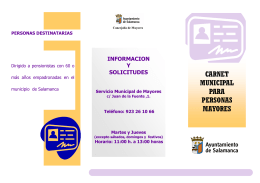 Folleto carnet municipal 2014