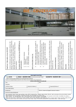 el folleto de inscripción en el AMPA