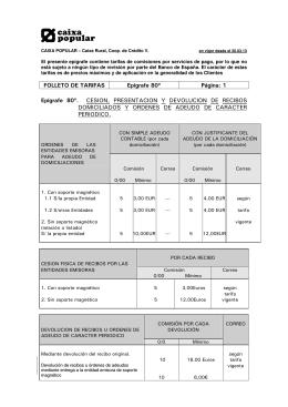 FOLLETO DE TARIFAS Ep íg ra fe 8 0 ù P á g in a : 1 Ep íg ra fe 8 0