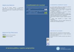 FOLLETO CARTA DE SERVICIOS ACAR