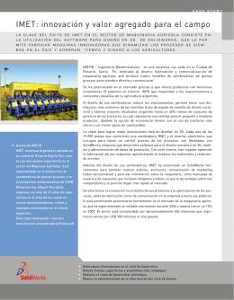 IMET: innovación y valor agregado para el campo