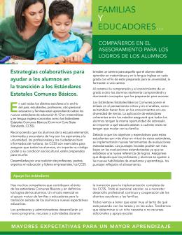 Familias Y EDUCaDOREs