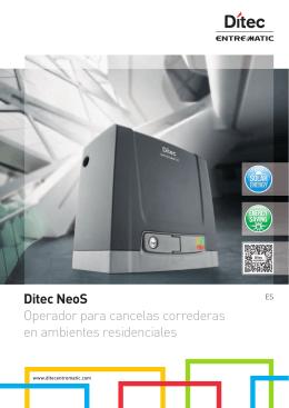 Ditec NeoS Operador para cancelas correderas