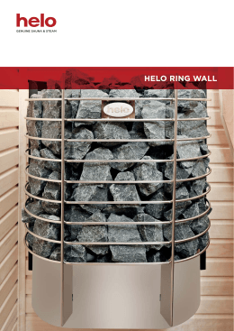 Folleto del calefactor para Sauna helo Ring Wall