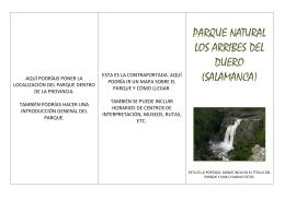 Modelo de folleto turístico