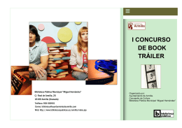 I CONCURSO DE BOOK TRÁILER