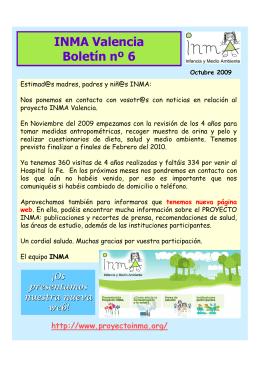 INMA Valencia Boletín nº 6 - INMA, Infancia y Medio Ambiente