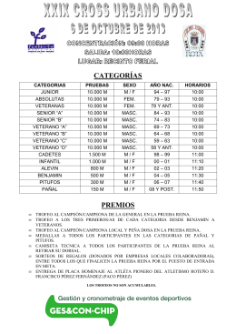 CATEGORÍAS PREMIOS - Club Atletismo Chiclana