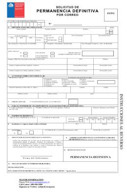 Formulario de solicitud de permanencia definitiva