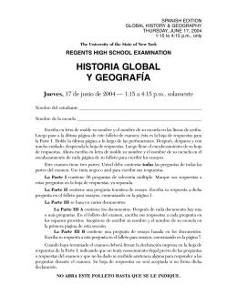 HISTORIA GLOBAL Y GEOGRAFÍA Jueves