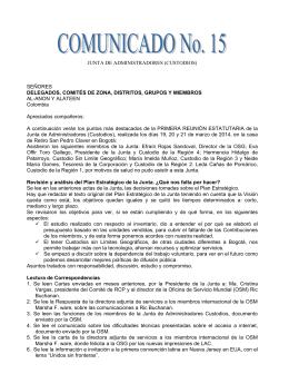 JUNTA DE ADMINISTRADORES (CUSTODIOS) SEÑORES