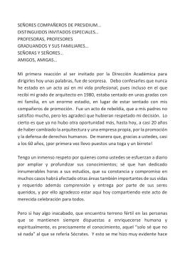 SEÑORES COMPAÑEROS DE PRESIDIUM