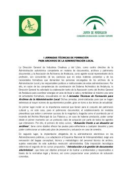 Folleto informativo - Asociación de Archiveros de Andalucía