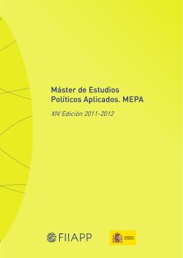 Máster de Estudios Políticos Aplicados. MEPA