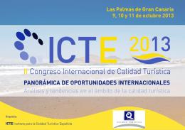 Dossier CICTE13 - Calidad Turística Hoy